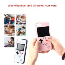 Retro 3D Gameboy Design Style Cover Case With 36 Small Games Color Screen Video Game For iPhone 6/6s/7/8
