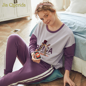 Image 3 - ฤดูใบไม้ผลิใหม่ชุดการ์ตูนพิมพ์พลัสขนาด Loungewear ผู้หญิงลูกเรือคอ Pijamas ผู้หญิง Homesuit Homeclothes Pjs ผู้หญิง PJ ชุด