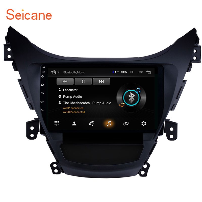 Seicane <font><b>Android</b></font> 8.1 9 Inch GPS Navi Bluetooth For 2011 2012 2013 Hyundai Elantra Car Radio With 1080P DVR Steering Wheel Control