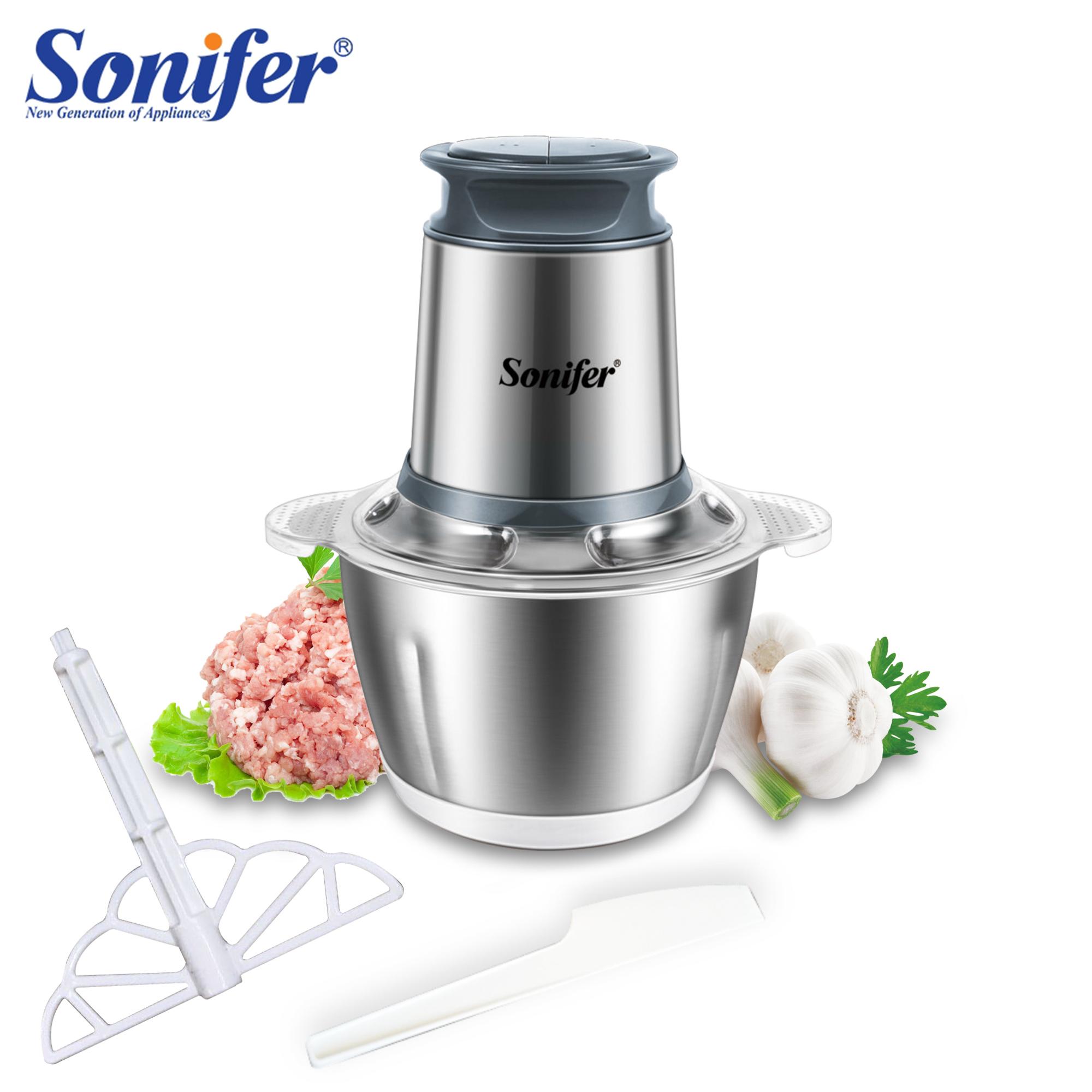 2 Speeds Stainless Steel Electric Chopper Meat Grinder Mincer Food Processor Slicer Egg Beater Vegetable Meat Grinder Sonifer