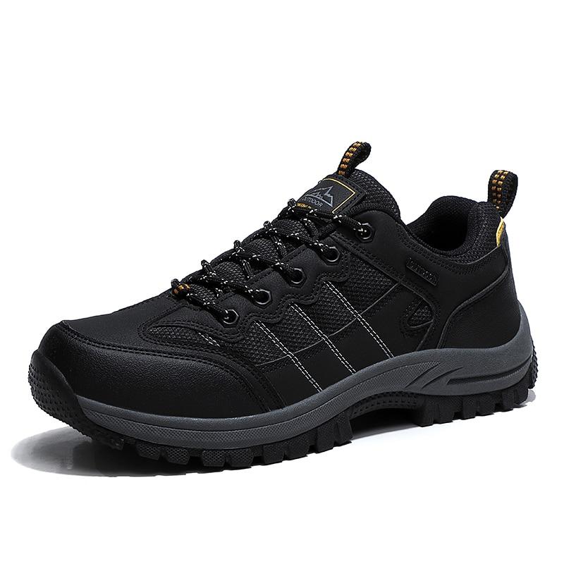 Outdoors Sneakers Men Breathable Non-slip Men's Climbing Hiking Shoes Comfortable Men Walking Shoes Zapatillas Hombre Size 39-46