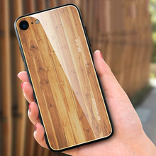 Luxury Tempered Glass Phone Case for Apple iPhone 11 Pro Max 6 6s 7 8 Plus X XS MAX XR Wood Grain Soft Silione Back Cover Capa wood texture tempered glass phone case for iphone 11 pro max x xs max xr 7 8 6 6s plus soft protective luxury back cover fundas