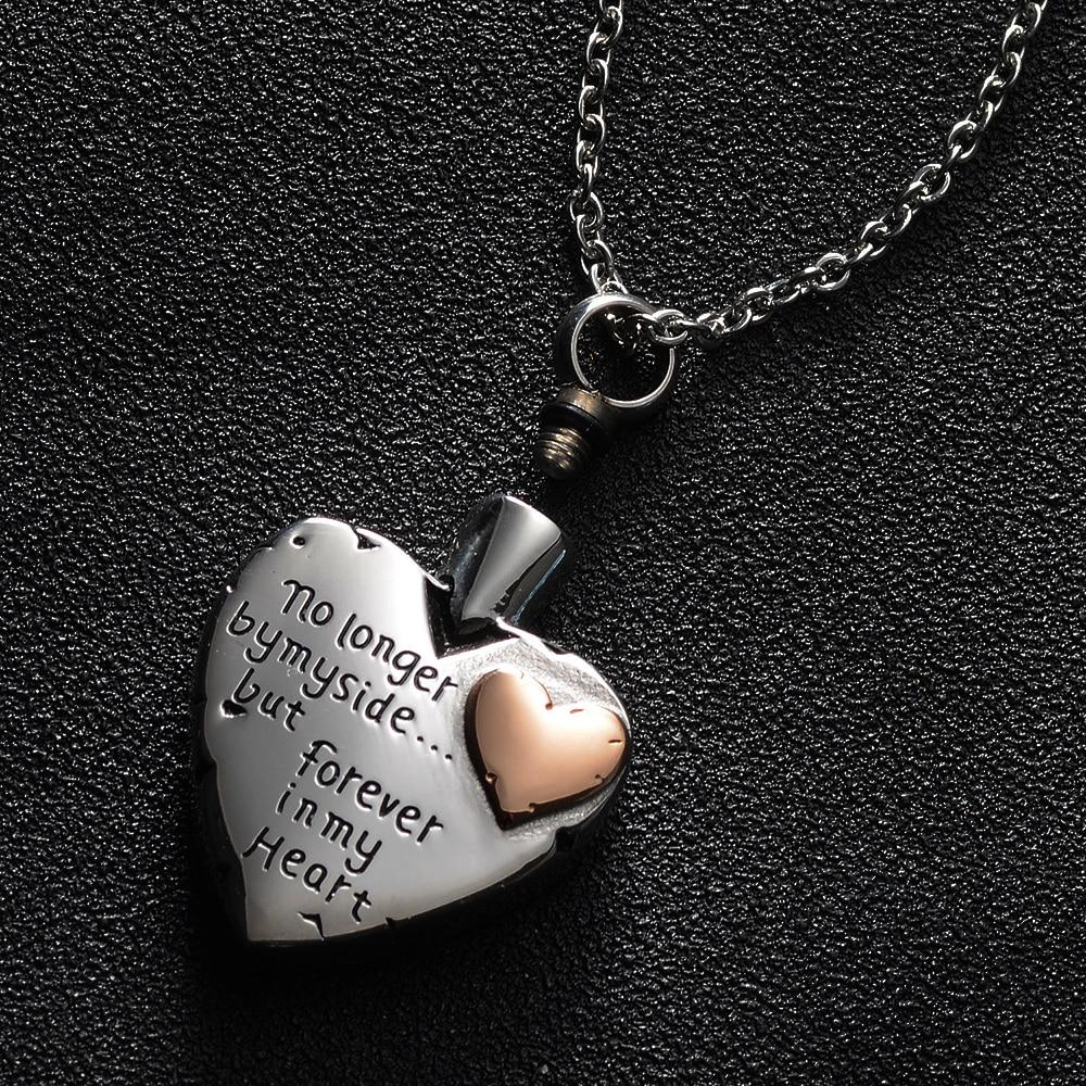Nicht Mehr von Meiner Seite aber Immer in Meinem Herzen Feuerbestattung Schmuck für Asche Edelstahl Andenken Denkmal Urne Halskette 50cm