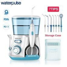 Waterpulse V300 800 мл Ирригатор для полости рта 7 шт. советы Стоматологическая воды Flosser воды нить гигиены полости рта Dental Flosser Вода нитью