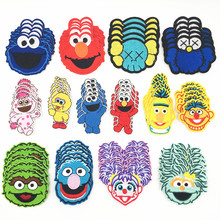 5PCS/set Sesame Street Elmo Cookie Monster Patches for Clothes Embroidery  Iron On Patch Cute DIY Stickers Kids T-shirt