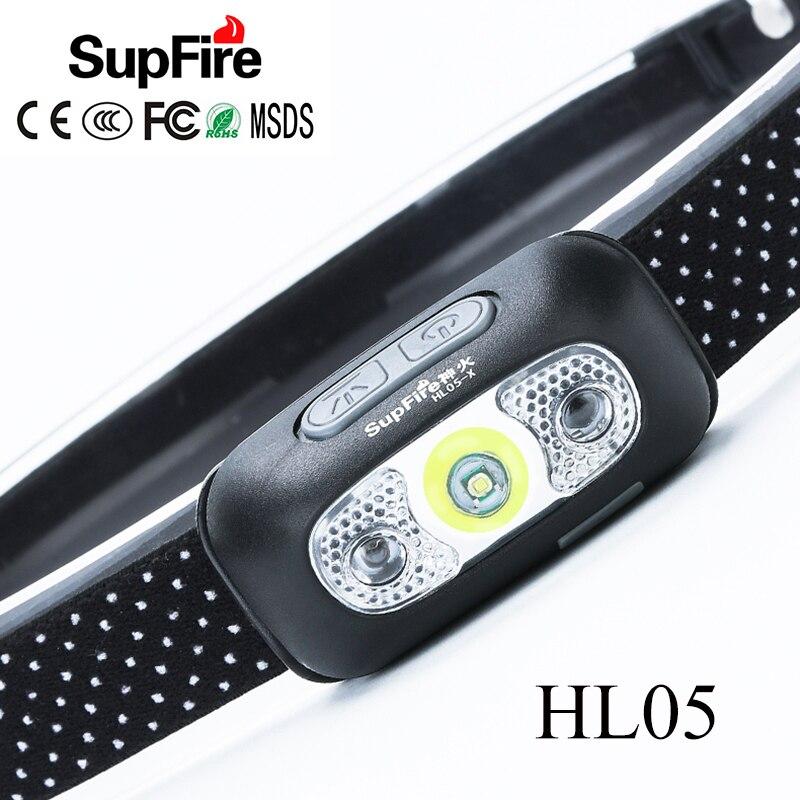 Supfire LED Headlamp USB Mini Headlight Linterna LED Flashlight Head Torch Lamp Rechargeable 5W 1000lm HL05 Fishing Head Light