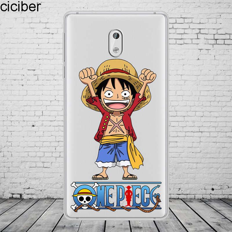 Ciciber أنيمي قطعة واحدة لوفي لنوكيا 8 7 7.1 6 6.1 5 5.1 3 3.1 2 2.1 1 زائد جراب هاتف لنوكيا X7 X6 X5 X3 لينة TPU كوكه