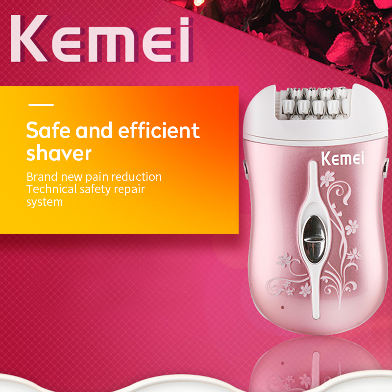 kemei <font><b>3</b></font> <font><b>in</b></font> <font><b>1</b></font> rechargeable <font><b>epilator</b></font> electric hair removal lady depilador callus dead skin remover hair shaver foot care tool image