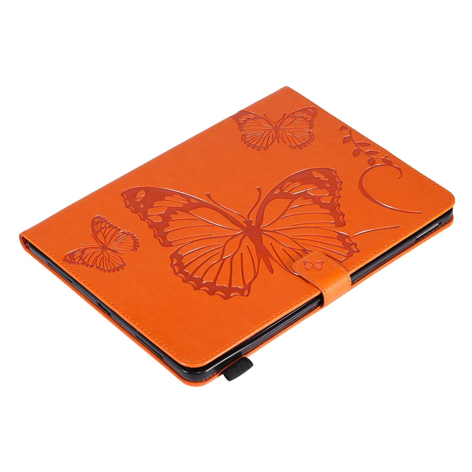 5 Yellow Butterfly Tablet Fundas For iPad Pro 12 9 Case 2020 2018 Folding Folio Embossed Cover For