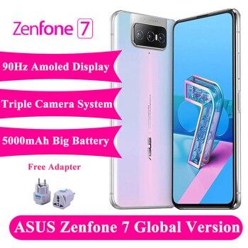 Купить 2020 новый оригинальный Смартфон ASUS Zenfone 7 8 ГБ ОЗУ 128 Гб ПЗУ Snapdragon 865 5000 мАч NFC Android Q 90 Гц глобальная версия 5G телефона