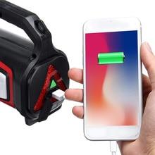 USB Charging Led Work Light Torch 5000mah Battery Spotlight Hand Lamp Camping Lantern Searchlight For Hiking Hunting 1pc