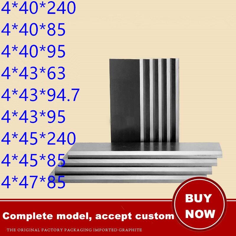 200  Sizes 4mm Thickness Graphite Vane Carbon Baker Vacuum Pump Carbon Sheet Air Pump Blade Air Pump Blade Graphite Sheet Rotary