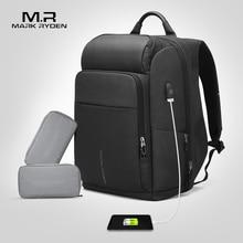 Mark Ryden erkek sırt çantası çok fonksiyonlu USB şarj 17 inç Laptop çantası büyük kapasiteli su geçirmez seyahat çantaları erkekler için