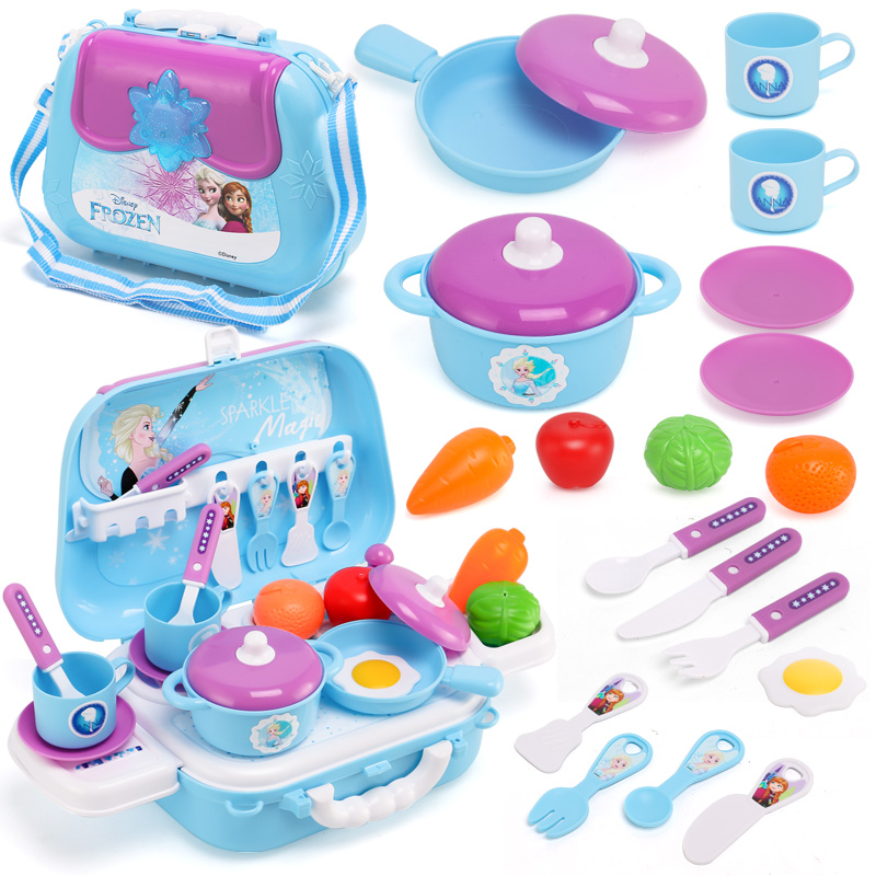 Disney backpack pretend play cooking doctor beauty repair tools juguetes xmas boys girls gifts frozen kitchen toys for children