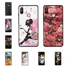For Xiaomi Mi A2 Lite Redmi 6 Pro Cover Soft TPU Case Girl Patterned Shell Funda