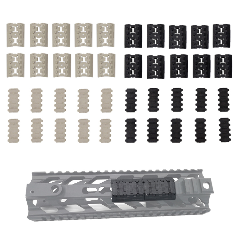 10 Piece/set Rail Cover Panel Tactical Mlok Rail Weaver Covers For M-Lok Sytem Mount  For Outdoor Hunting Wargame Mount
