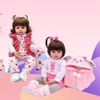 60CM Reborn Baby Dolls Full Body Silicone Realistic Boys and Girls Newborn bebe lifelike Toddler Birthday Christmas Gifts