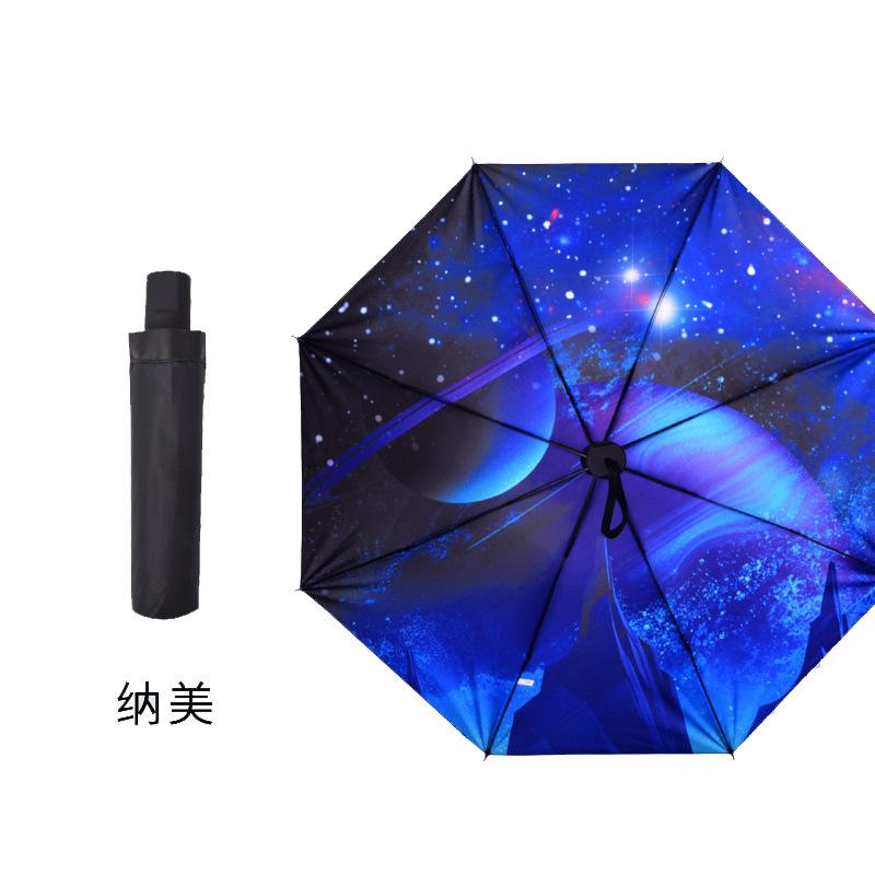Parasol Vinyl Umbrella College Style Black Umbrella Sun-resistant MORI Series Fresh Umbrella Manual Folding Umbrella [Factory Go