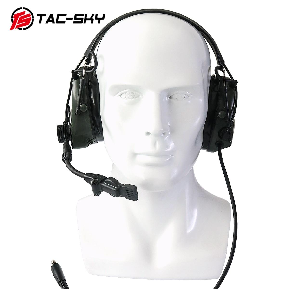 Купить с кэшбэком TCI LIBERATOR 1 TAC-SKY silicone earmuffs Airsoft noise reduction pickup tactical shooting military walkie talkie headset FG