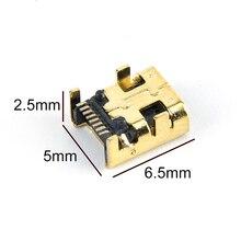 Female Jack Connector-Plug Mini-Usb Smt Pcb 10pcs 8-Pin 8P Gold-Plated Welding