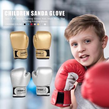 2 sztuk dzieci rękawice bokserskie dzieci szkolenia walki Karate Muay Thai Guantes darmowa walka MMA Sanda szkolenia dorosłych dzieci sprzęt tanie i dobre opinie Dziecko CN (pochodzenie) Boxing Other Sponge