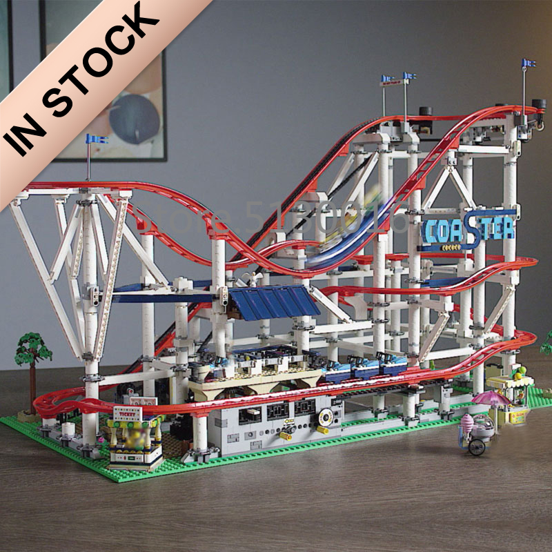 In Stock 15039 The Roller Coaster Creator 10261 4619pcs Boy Dreams Model Building Blocks Compatible With 10261 Toys