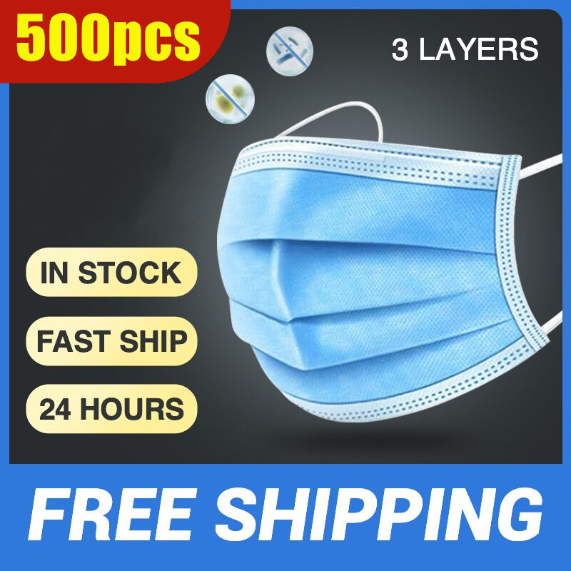 500pcs Dust-proof And Dust-proof Disposable Ear-hanging Face Mask, Face Shield, Disposable Mask, Dust-proof Mask