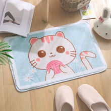 Cartoon Bathroom Rug Anti-slip Bedroom Indoor Mat Animal Print Rug Area Rug Imitation Cashmere Soft Rectangle Decoration Carpet цена 2017