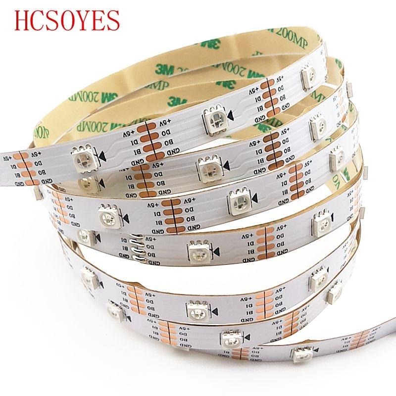 1m/3m/4m/5m Roll WS2813 Smart Led Pixel Strip,Black/White PCB,30/60 Leds/m WS2813 IC;better Than WS2812B Strip,IP30/IP67 DC5V