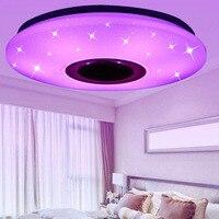 Moderne LED RGB Decke Licht Musik Decke Lampe mit Bluetooth Lautsprecher Dimmbare Dekoration Innen Beleuchtung Leuchten