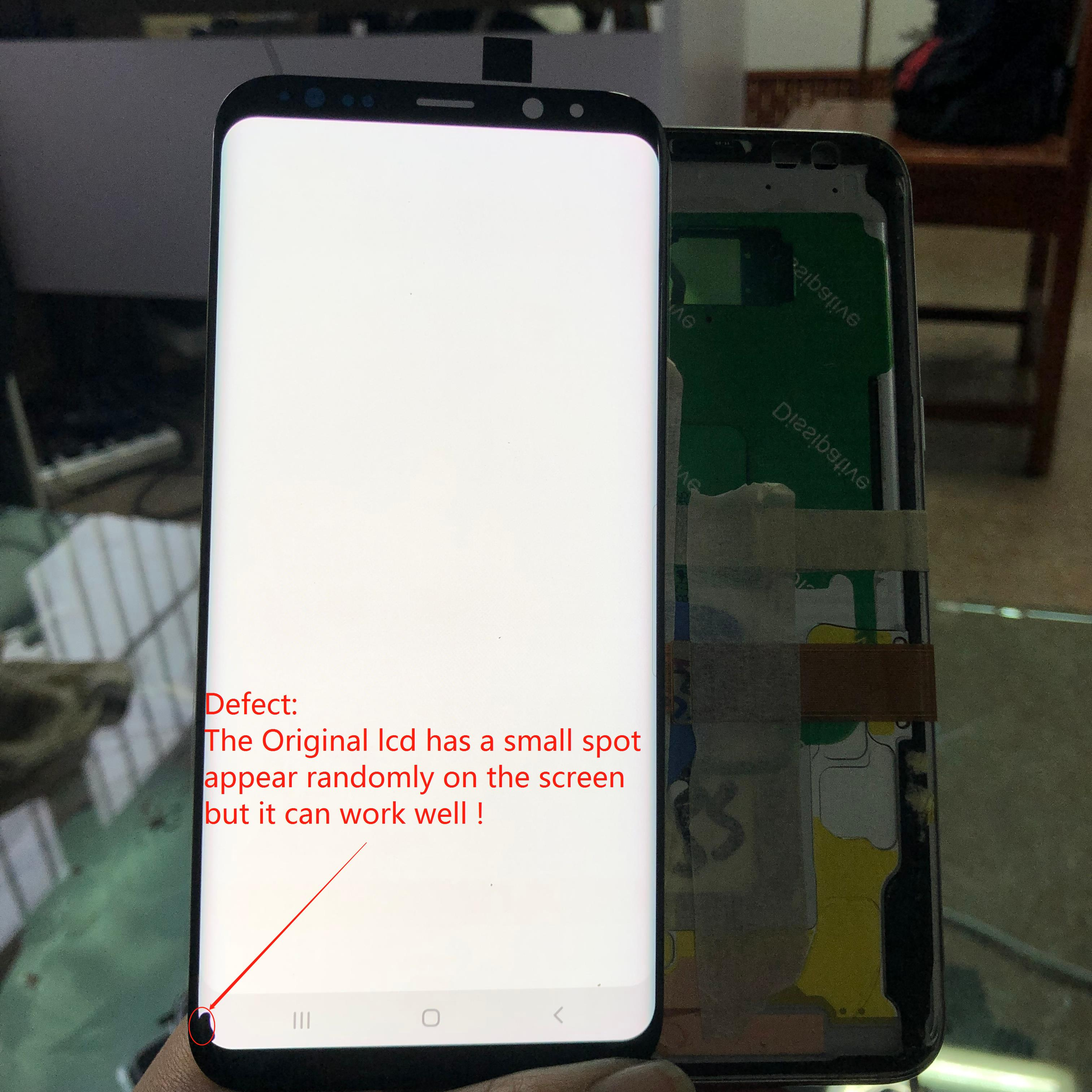 LCD For <font><b>Samsung</b></font> <font><b>S8</b></font> plus G955 G955F G955FD Original Amoled LCD <font><b>Display</b></font>+Touch <font><b>Screen</b></font> Digitizer Assembly with Small dead point LCD image