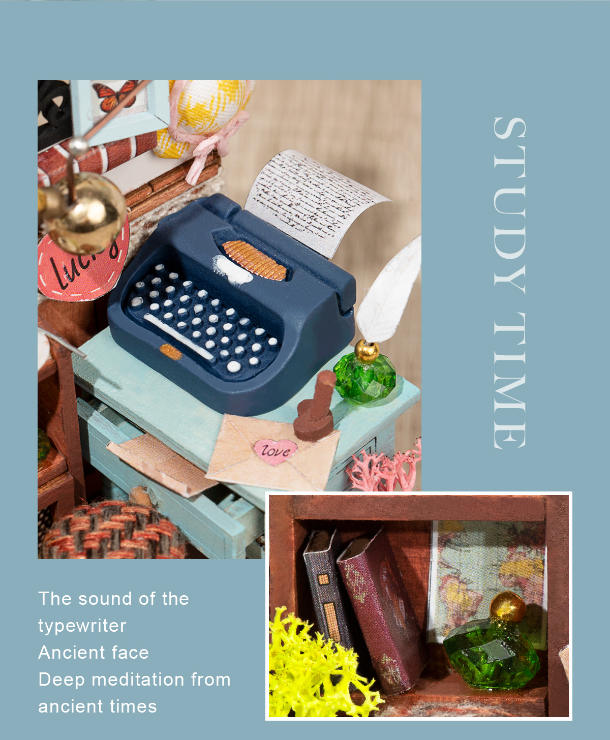 Rolife DIY Miniature Dollhouse - Record Mood (Study) DS017