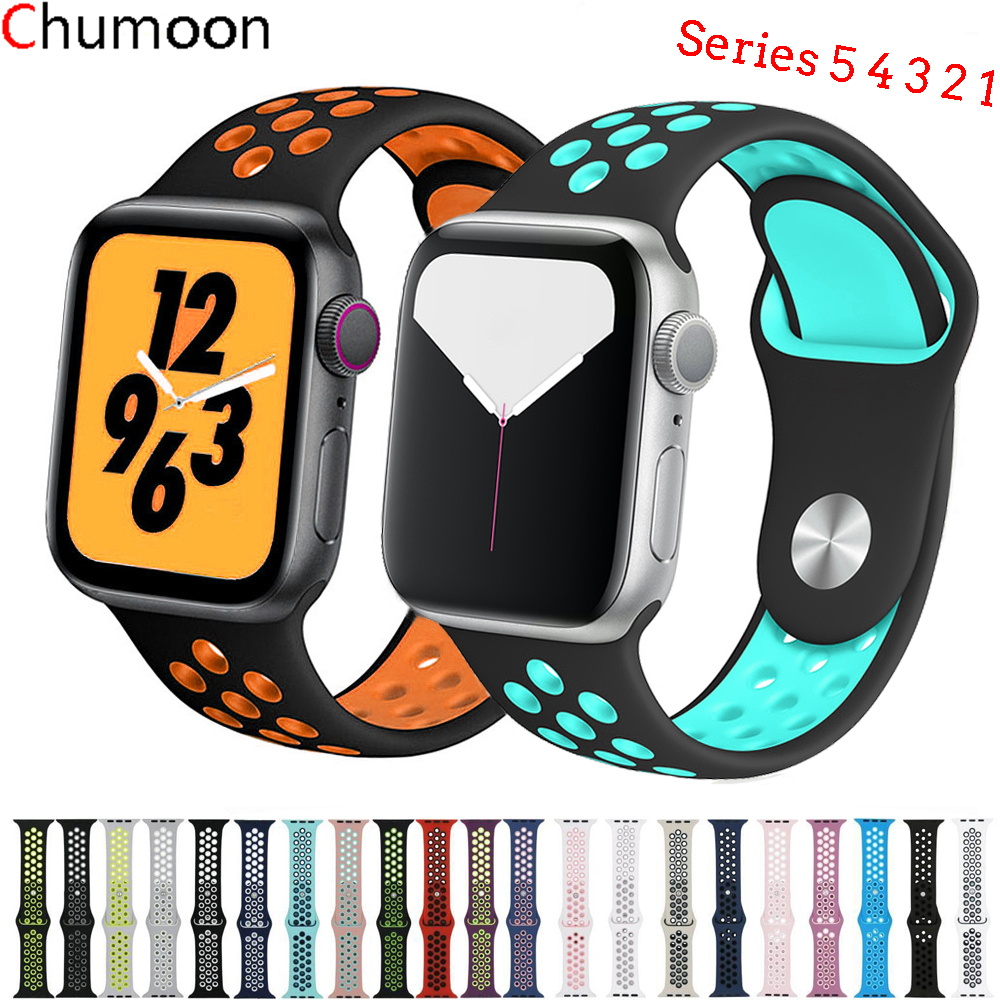 Sport Strap For Apple Watch Band 44mm 40mm IWatch Band 42mm 38mm Nike Silicone Watchabnd Bracelet Apple Watch 5 4 3 2 1 44 42mm