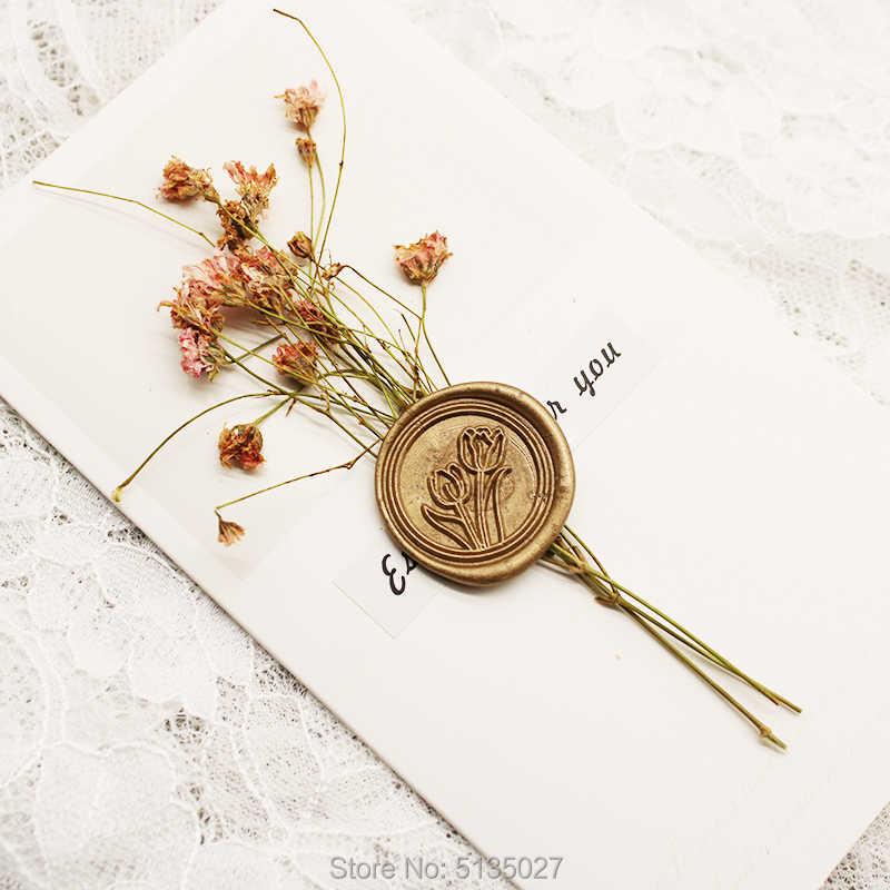 DAISY FLOWER Sunflower Wax Seal Stamp  Wedding Invite  Birthday Party Invitation  Envelope Letter Seal  Gift Box Set