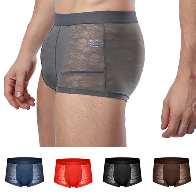 See through Male Underwear Ice Silk Mesh Underpants Sexy Floral Boxershorts Summer Shorts Men's Boxer Men Panties 2020 New|Boxers|   -