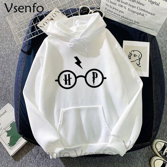 Harajuku Women's Hoodies Hary Style Glasses Print Sweatshirt Pullover Streetwear Moleton Feminino Vintage Clothes Drop 3