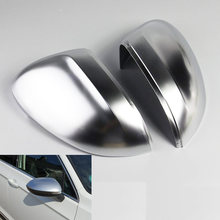 Espelho de carro capa para vw passat b8 cc arteon r linha matte chrome prata espelho retrovisor capa proteção tampa do carro estilo