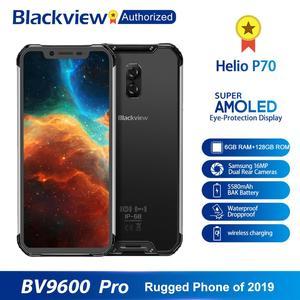 """Image 2 - Blackview BV9600 プロ IP68 防水携帯エリオ P70 オクタコア 6 ギガバイトの RAM 128 ギガバイト ROM 6.21 """"Amoled アンドロイド 9.0 頑丈なスマートフォン 4 グラム"""