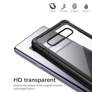 Image 3 - IPAKY für Samsung S8 S9 S10 Plus Hinweis 10 Super Stoßfest Transparent Silicon Acryl Abdeckung Fall Für Samsung Hinweis 10 plus Fall