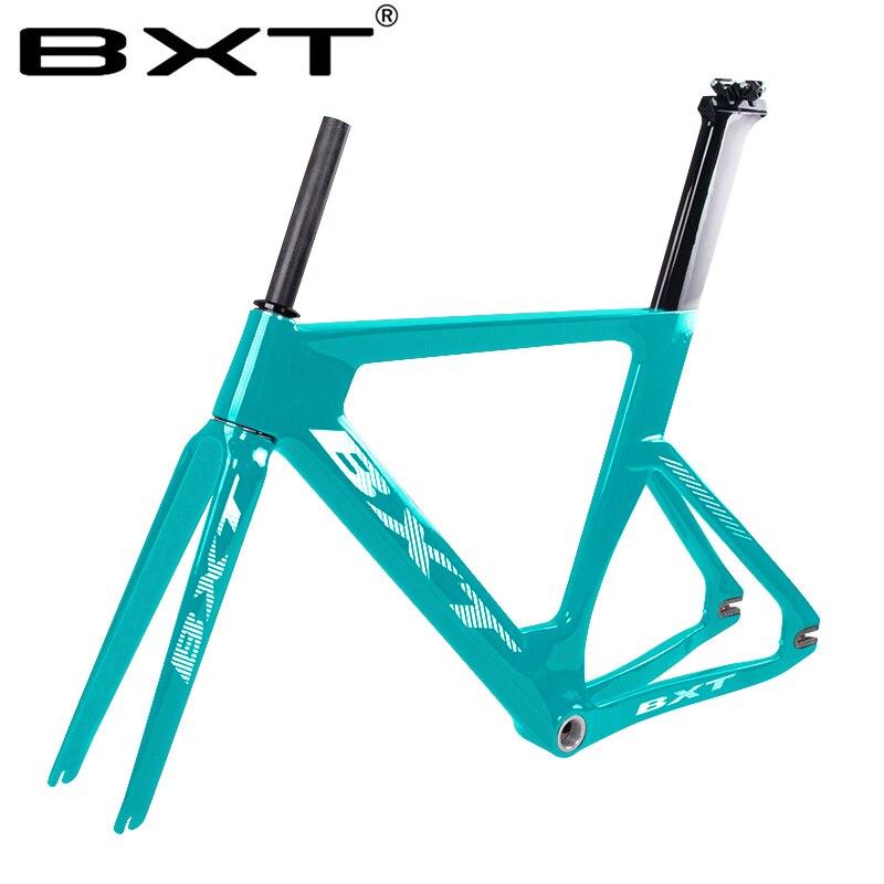Full Carbon Track Bike Frame Fit 700X23C Wheels Aero T800 Carbon Fiber Track Bike Bicycle Frame 700C Fixed Gear Frameset