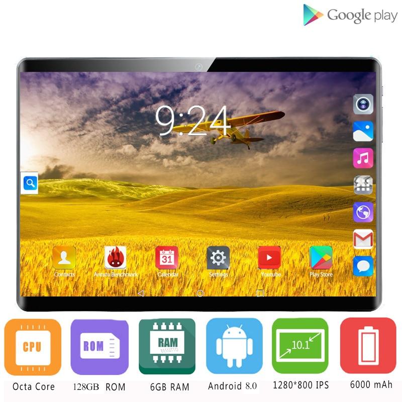 YAHU Fast Shipping 10 Inch Tablet PC Octa Core 6GB RAM 128GB ROM Dual SIM 4G Call Phone Tablets Rugged 2.5D 1920x1200 HD Screen