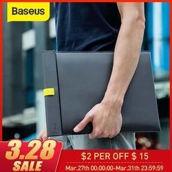 BASEUS Laptop Tas untuk Macbook Udara Pro Laptop Sleeve Magnetic Switch Double-Layer Penutup Notebook Liner Lengan 13 14 15 16 Inch