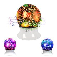 3D Fireworks Night Light White USB Charging Bluetooth Speaker Home Decor Best Gifts For Children