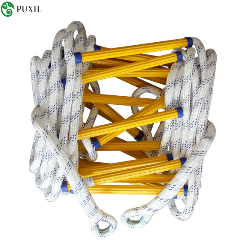 New 5M Improved Escape Ladder Wear-resistant Reinforced Non-slip Soft Fire Inspection Ladder Rope Ladder 18-20MM