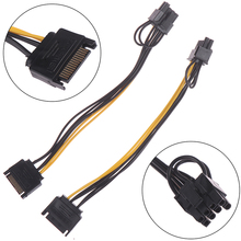 Cable Graphic-Card Power-Supply 15pin PCI-E 8pin SATA 1pc for Male 20cm To 6--2