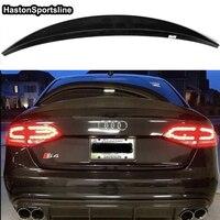 For Audi S4 B8 4Door Sedan HK Style Carbon Fiber Rear Trunk Spoiler Wing 2009 2012 Car styling
