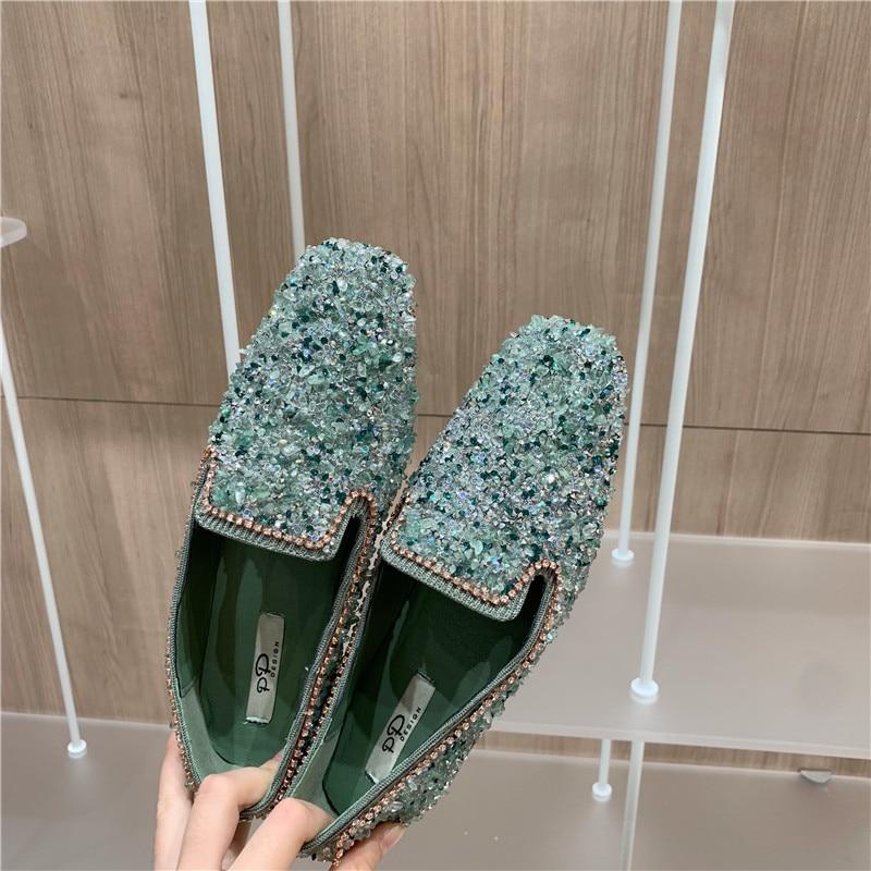 Elegant Women Flats Shoes Ballet Square Toe Ladies Slip On Fashion Casual Flats Soft Spring/Autumn Sweet Flats Dress Shoes Hot