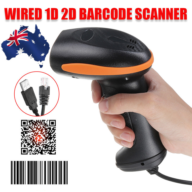 USB Handheld Barcode Scanner 2D/1D QR Code Empfang Handheld Wired Laser Barcode Scanner Scan Guns Reader Bar Code reader