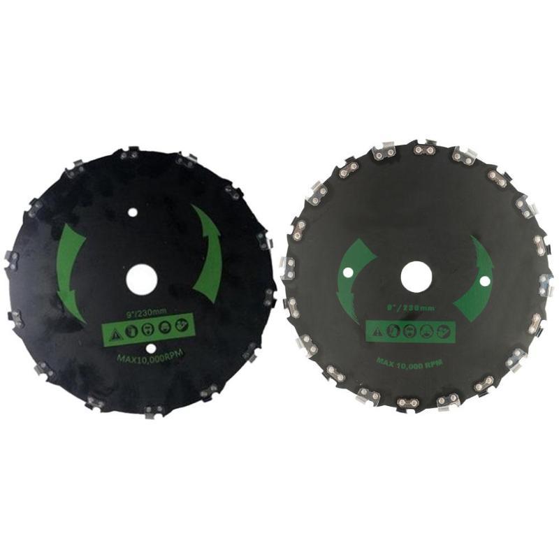 Brush Cutter Trimmer Head Round Blade Round Cutting Disc Lawn Mower Accessories Sharp Cutting High Efficiency Anti-rust