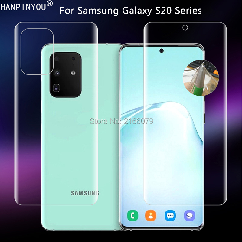 For Samsung Galaxy S20 Ultra S10 Plus 5G Clear TPU / Matte Anti-Fingerprints Hydrogel Full Cover Soft Screen Protector Film